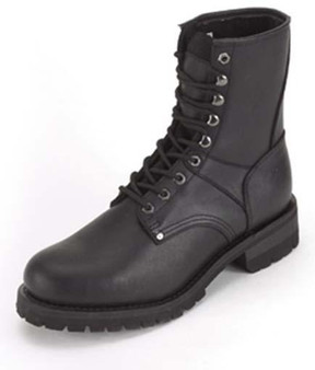 Mens Biker Leather Motorcycle Boots - Lace Up Front - SKU GRL-S15-REG-DL