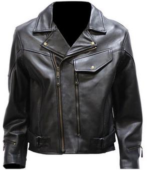Men's Braided Pistol Pete Leather Motorcycle Jacket - SKU MJ708-SS-DL