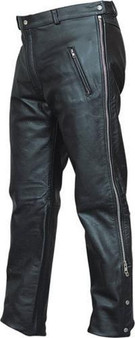 Mens Leather Chap Pants with Zipper Pockets - SKU AL2510-AL