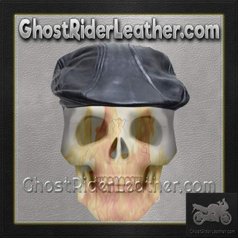 Mens Leather Driving Cap / SKU GRL-AC25-DL