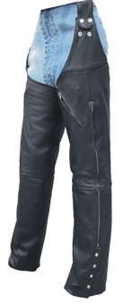 Mens Motorcycle Leather Chaps Hook To Your Belt - SKU GRL-AL2419-AL