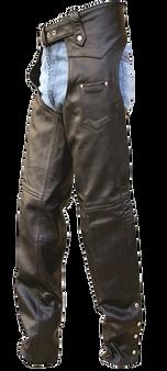 Mens Tall Length Motorcycle Leather Chaps - SKU GRL-AL2409-TALL-AL