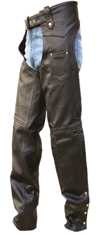 Mens Tall Length Motorcycle Leather Chaps - SKU AL2409-TALL-AL
