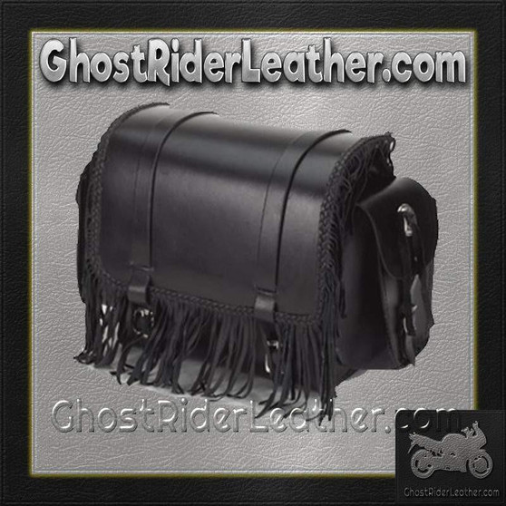 Motorcycle Sissy Bar Bag with Fringe and Braid / SKU GRL-SB73-DL
