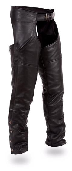 Nomad - Men's Leather Motorcycle Chaps - SKU GRL-FMM830BM-FM