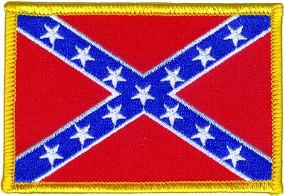 Pack of Four Small Confederate Flag Patches - Rebel Flag Patch - SKU GRL-PPA1231x4-HI