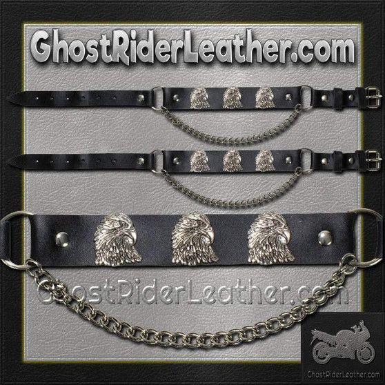 Pair of Biker Boot Chains - Eagle - SKU GRL-BC12-DL