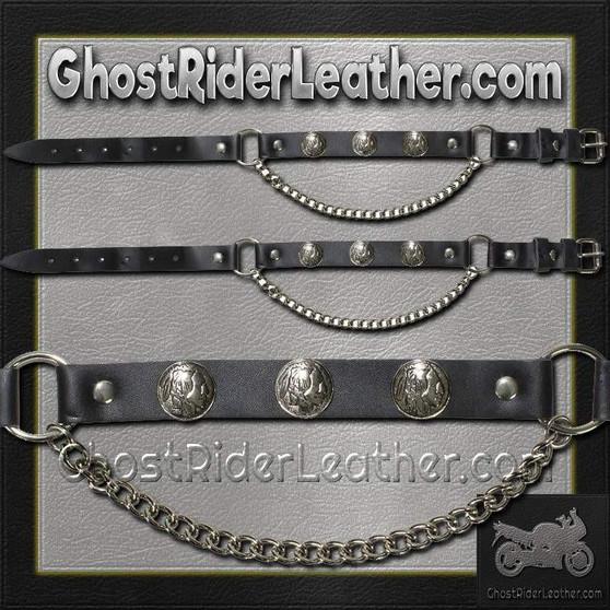 Pair of Biker Boot Chains - Indian Head - SKU GRL-BC4-DL
