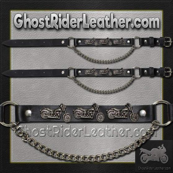 Pair of Biker Boot Chains - Motorcycle - SKU GRL-BC18-DL