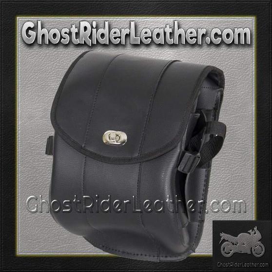Plain PVC Motorcycle Sissy Bar Bag with Gun Holster/ SKU GRL-SB86-DL