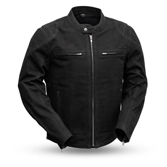 Qualifier - Men's Motorcycle Canvas Jacket - SKU GRL-FIM284CNVS-FM