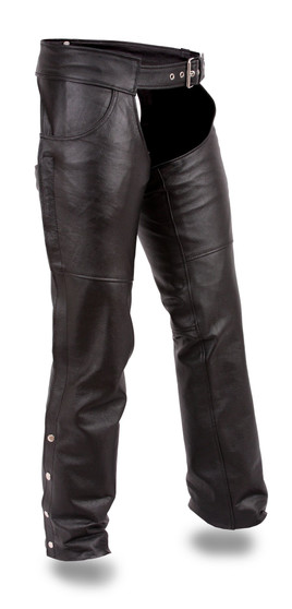 Rally - Unisex Leather Motorcycle Riding Chaps - SKU GRL-FMM835CC-FM