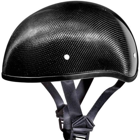 Real Carbon Fiber DOT Daytona Skull Cap Motorcycle Helmet With Or Without Visor - SKU GRL-DS-G-GNS-DH