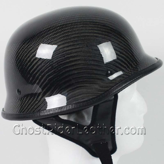 Real Carbon Fiber DOT German Motorcycle Helmet - SKU GRL-103CF-HI
