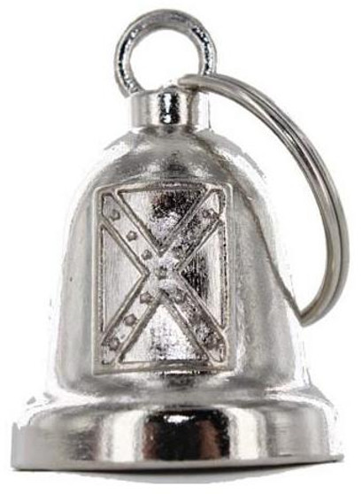 Rebel Flag - Confederate Flag - Chrome Motorcycle Ride Bell - SKU GRL-BLC20-DL