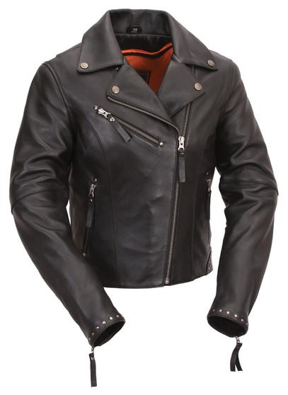 Scarlett Star - Women's Motorcycle Leather Jacket
