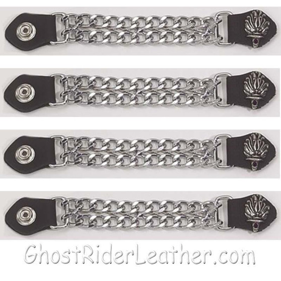 Set of Four Liberty Torch Vest Extenders with Chrome Chain / SKU GRL-AC1074-DL