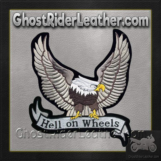 Silver Eagle with Hell On Wheels Banner Patch / SKU GRL-PAT-A25-DL