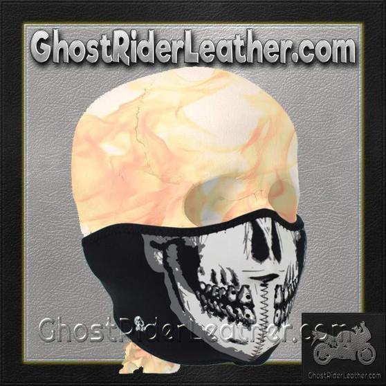 Skull Neoprene Half Face Mask / SKU GRL-FMF08-WNFM002H-HI