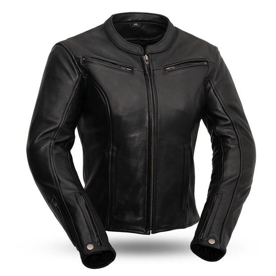 Speed Queen - Women's Leather Motorcycle Jacket