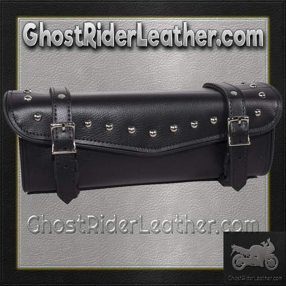 Studded PVC Motorcycle Tool Bag - Fork Bag 10 or 12 Inch / SKU GRL-TB3033-DL