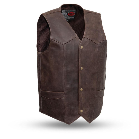 Texan - Men's Leather Motorcycle Vest