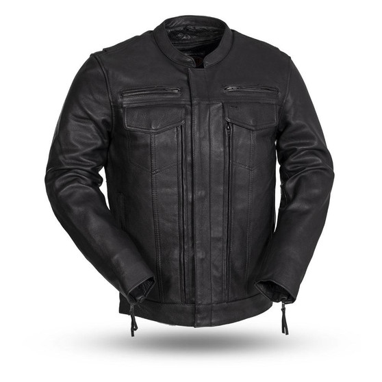 The Raider - Men's Motorcycle Leather Jacket - SKU GRL-FIM263CDMZ-FM