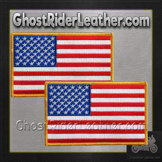 TWO American Flag Patches - Small - SKU GRL-PPA1221-X2-HI