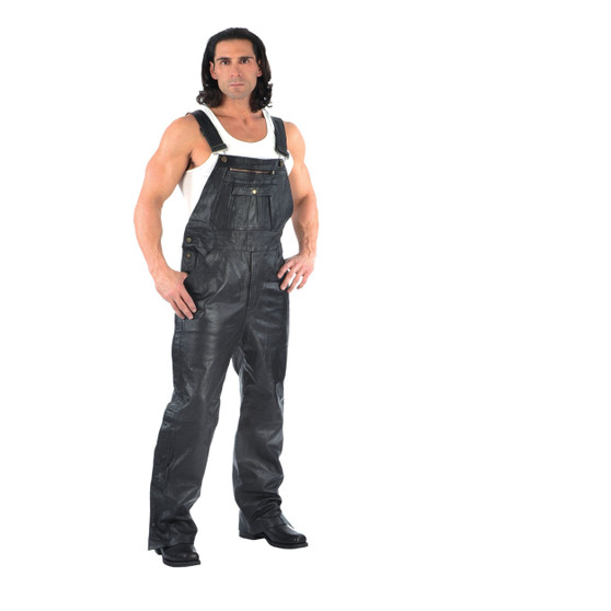UNIK Men's Premium Leather Chaps Overalls - SKU GRL-815-00-UN