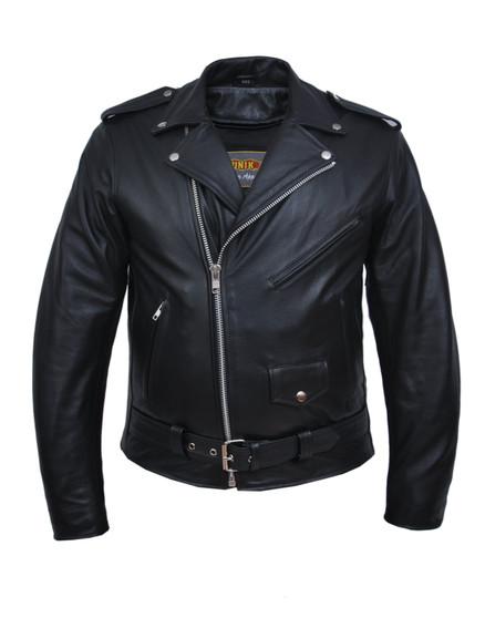 UNIK TALL Men's Premium Leather Motorcycle Jacket - SKU GRL-13-ZO-UN