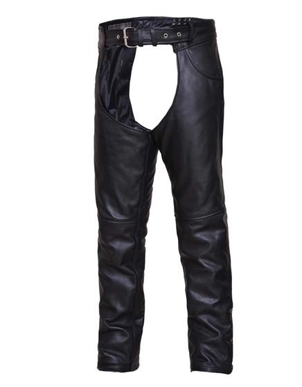 UNIK TALL Premium Leather Motorcycle Chaps - SKU GRL-6120-TL-UN