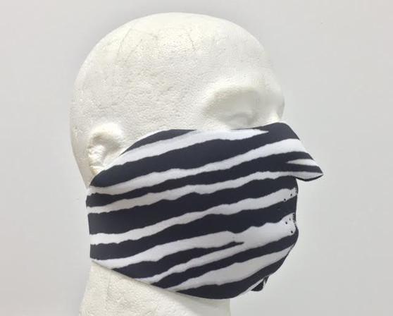 Zebra Neoprene Half Face Mask - Motorcycle Riding Mask - FMY36-HI