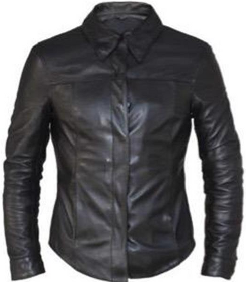 Ladies Premium Leather Motorcycle Shirt - SKU 6846-00-UN