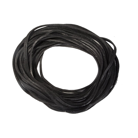 50 Feet of Black Leather Lacing - SKU GRL-CE50-GRL