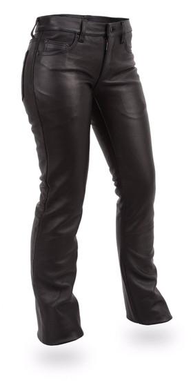 Alexis Women's Leather Pants - SKU GRL-FIL710CFD-FM