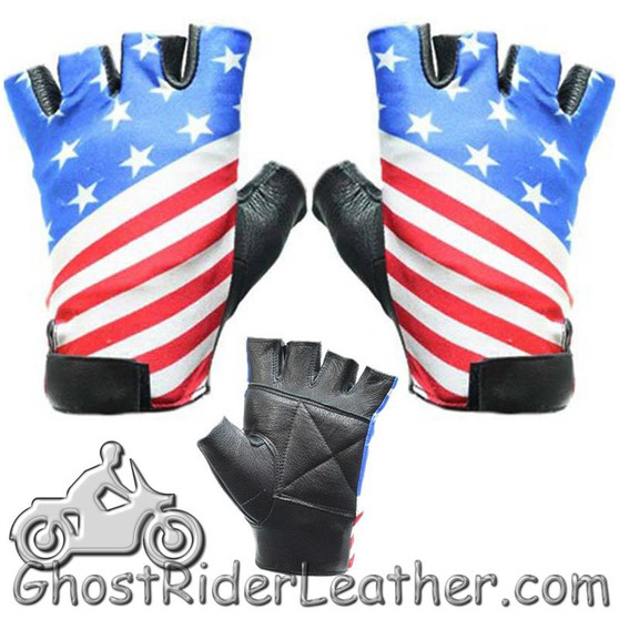 American Flag Riding Gloves - Motorcycle Gloves - SKU GRL-GL2034-DL