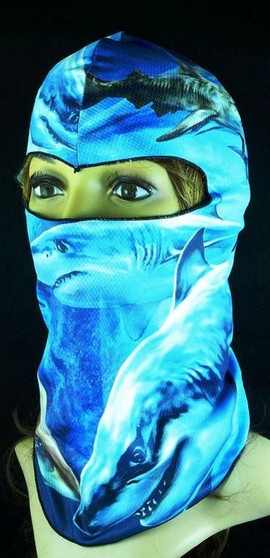 Balaclava Full Face Mask - Shark Design - SKU GRL-FMU04-BALA-HI
