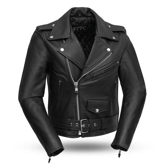 Bikerlicious - Women's Leather Motorcycle Riding Jacket - FML137CRP