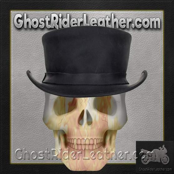 Black Leather Deadman Top Hat / SKU GRL-HAT1-11-DL