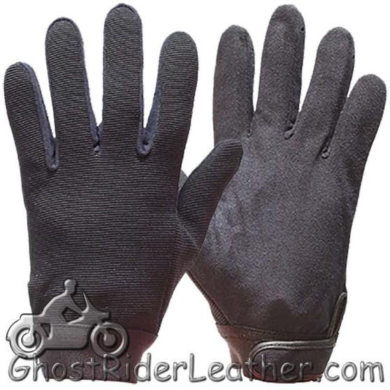 Black Mechanics Gloves - SKU GLZ50-DL