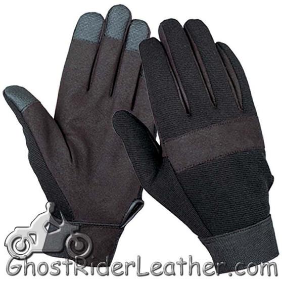 Black Textile Mechanics Gloves - SKU GRL-1464.00-UN
