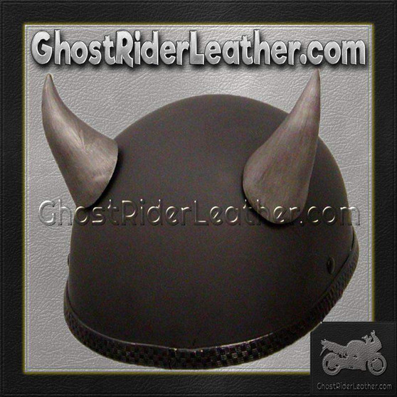 Bull Horns - Helmet Horns - Large Curved Horns - Motorcycle Helmet Accessories / SKU GRL-HA-21S-HI
