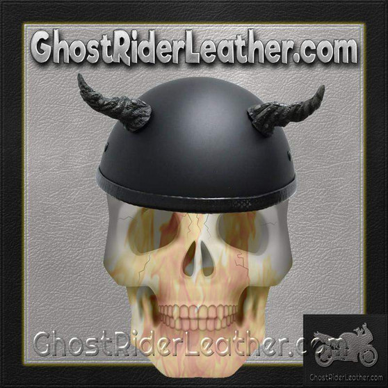 Bull Horns - Helmet Horns - Ogre Horns - Motorcycle Helmet Accessories - SKU HA-11B-HI