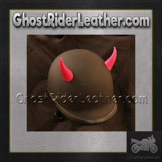 Bull Horns - Helmet Horns - Red Devil Horns - Motorcycle Helmet Accessories / SKU GRL-HA-16RED-HI
