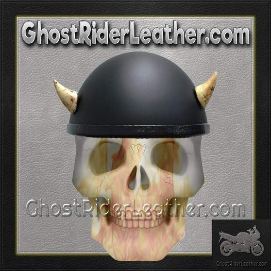 Bull Horns - Helmet Horns - Small Devil Horns - Motorcycle Helmet Accessories / SKU GRL-HA-16B-HI