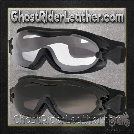 Daytona Goggles Fit Over Eyeglasses - Clear or Smoke / SKU GRL-G-FOG-C-S-DH