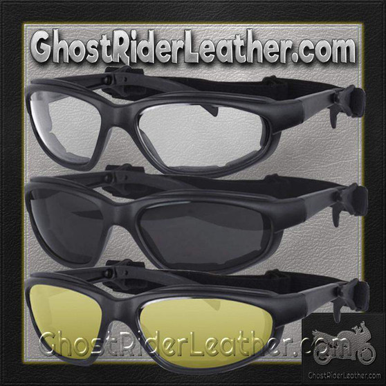 Daytona Goggles in Choice of Clear or Smoke or Yellow Lens - SKU GRL-G-C-S-Y-DH