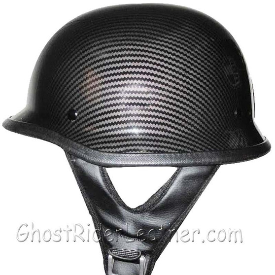 DOT Carbon Fiber LOOK German Motorcycle Shorty Helmet - SKU GRL-320CL-HI