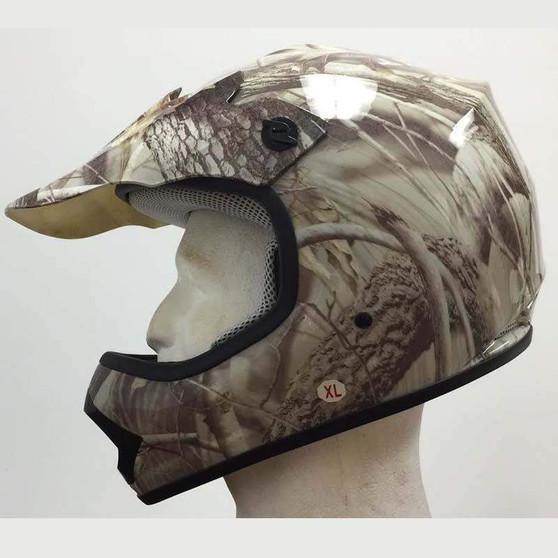 DOT Kids ATV - Dirt Bike - Motocross - Helmets - Camo Leaf - SKU GRL-DOTATVKIDS-CAMOLEAF-HI