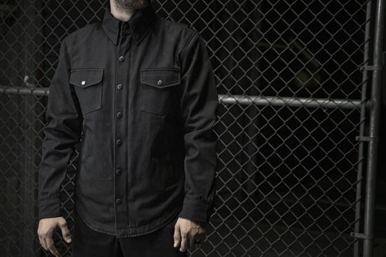 Equalizer - Men's Motorcycle Denim Shirt With Kevlar - SKU GRL-FIM423DM-FM